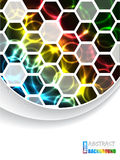 Cool brochure with hexagons and color plasma Royalty Free Stock Image