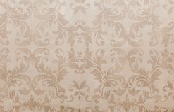 Cool brown distressed retro floral wallpaper.  royalty free stock image