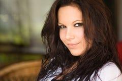 Cool brunette. Stock Images