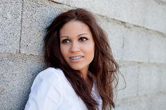 Cool brunette woman Stock Photography