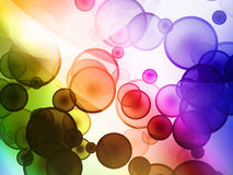 Cool bubble background. Cool multicolored digital bubble background Stock Photos