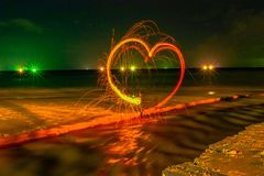 Cool Burning Steel Wool Photo Experiments stock images