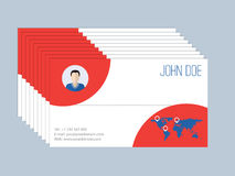 Cool business card design resume style Stock Images