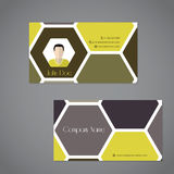 Cool business card with two sides Stock Images