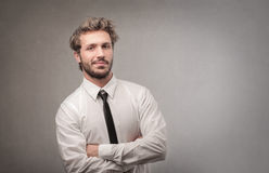 Cool business man royalty free stock image