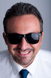 Cool business man wearing shades or sunglasses Stock Image