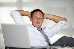 Cool businessman Royalty Free Stock Photo