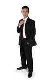 Cool businessman standing Stock Photo
