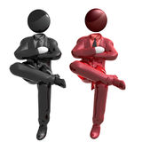 Cool businessman team work Stock Photo