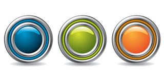 Cool buttons for the web Stock Photography