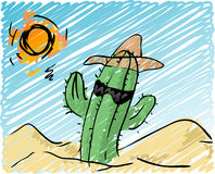 Cool cactus Stock Images