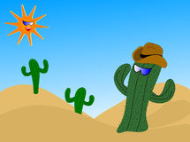 Cool Cactus Illustration Royalty Free Stock Photo