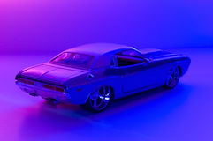 Cool car. Picture of a miniature replica of a toy car Royalty Free Stock Photos