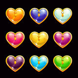 Cool cartoon diamond hearts Royalty Free Stock Photo
