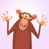 Cool cartoon monkey character icon. Vector illustration royalty free stock image