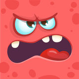 Cool cartoon monster face yelling. Halloween vector illustration. Cool cartoon monster face yelling. Halloween vector illustration Royalty Free Stock Images