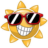 Cool Cartoon Sun sunglasses. Cool Cartoon Sun with sunglasses Royalty Free Stock Photos