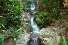 Cool Cascade. Waterfall cuts its way through the rocks Stock Photography