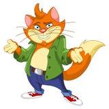 Cool cat. Illustration of a cool cat
