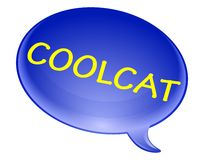 Cool cat bubble Royalty Free Stock Photography