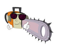 Cool chainsaw cartoon. Vector illustration of cool chainsaw cartoon Stock Photo