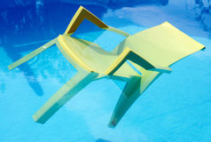 A Cool Chair. A Chair in a Swimming Pool stock image
