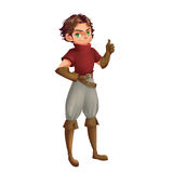 Cool Characters Series: Young Boy Scout isolated on White Background Stock Image