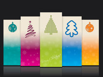 Cool christmas banners with christmas elements Stock Photos