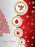 Cool christmas card design Stock Images