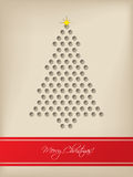 Cool christmas card with tree shaped 3d dots Royalty Free Stock Image