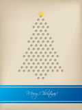 Cool christmas card with tree shaped dots Royalty Free Stock Image