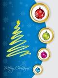 Cool christmas greeting design Stock Photo