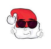 Cool Christmas hat cartoon Stock Photography