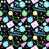 Cool Christmas Pattern Royalty Free Stock Photo