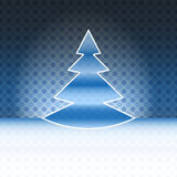 Cool christmas tree blue spotted background Royalty Free Stock Images