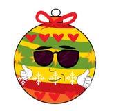 Cool christmas tree toy cartoon Stock Image