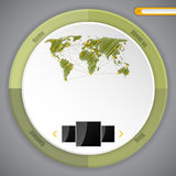 Cool circle webpage template design Stock Photo