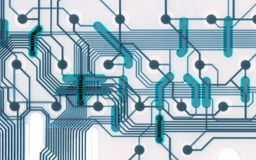 Cool circuit board connections royalty free stock image