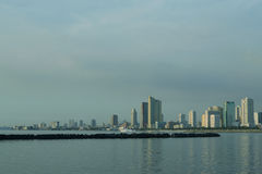 Cool-cityscape. Manila Philippines, city skyline view from manila bay Royalty Free Stock Image
