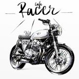 Cool classic motorcycle. Hand drawing of Cool classic motorcycle Royalty Free Stock Images