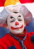 Cool Clown. Portrait of a boy dressed up as a clown on dutch 'Queen's Day Stock Photography