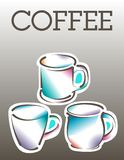 Cool coffee poster template Stock Photo