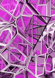Cool color. Pattern 3D modeled and rendered. Made and designed from scratch Royalty Free Stock Photo