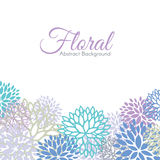 The cool color floral abstract background vector design Royalty Free Stock Image