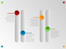 Cool color slider infographic with options Royalty Free Stock Image