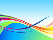 Cool color wave background Royalty Free Stock Photos