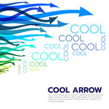 Cool colored tone arrow and cool text abstract vector art style vector illustration