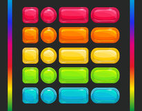 Free Cool Colorful  Glossy Buttons Set Stock Photography - 61555922