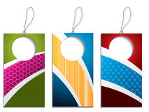 Cool colorful label set Royalty Free Stock Photos