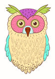 Cool colorful OWL Stock Images